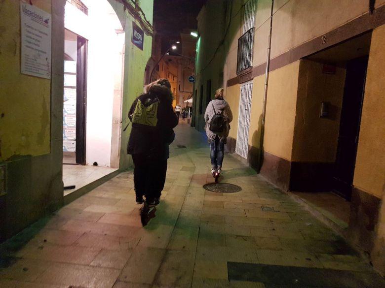 Circulación de patinetes eléctricos en calles peatonales, infracciones