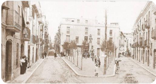 Plaza de Soler i Gustems, a principios del siglo XX. vilanova i la geltrú