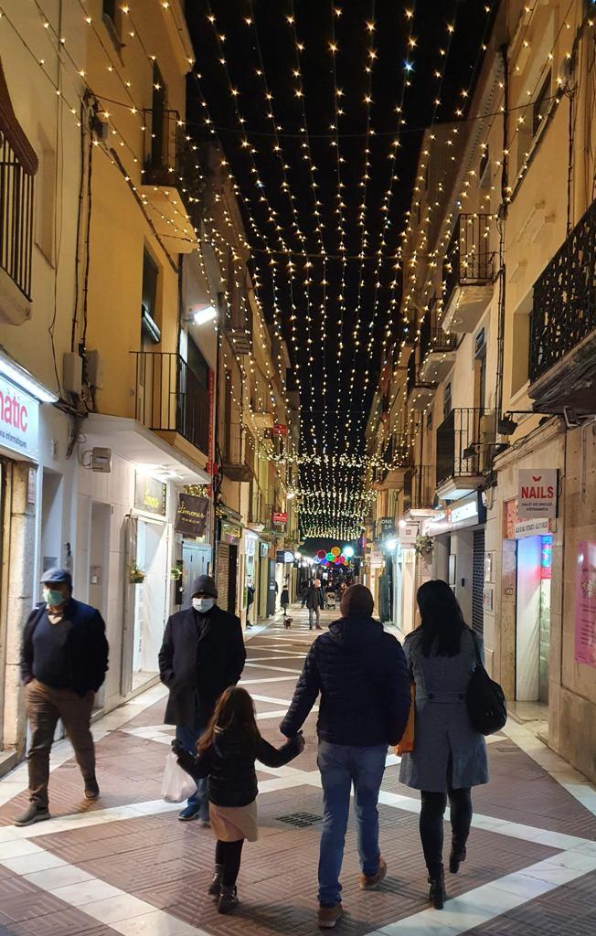 Calle Sant Sebastià, Vilanova i la Geltrú, Navidades atípicas de 2020