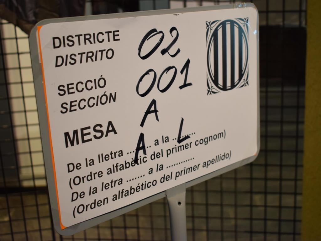 Distritos, secciones, mesas colegios electorales Vilanova i la Geltrú