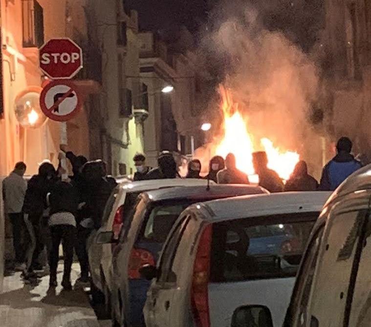 Disturbios en Vilanova i la Geltrú