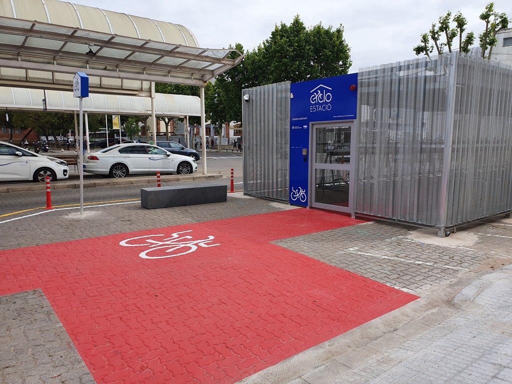 Cicloestación, aparcamiento para bicis en Vilanova i la Geltrú