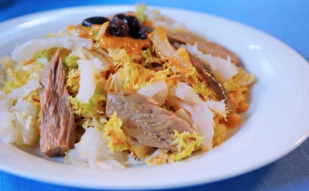 Restaurantes Vilanova i la Geltrú, foto Xiringuito Miramar, plato xató