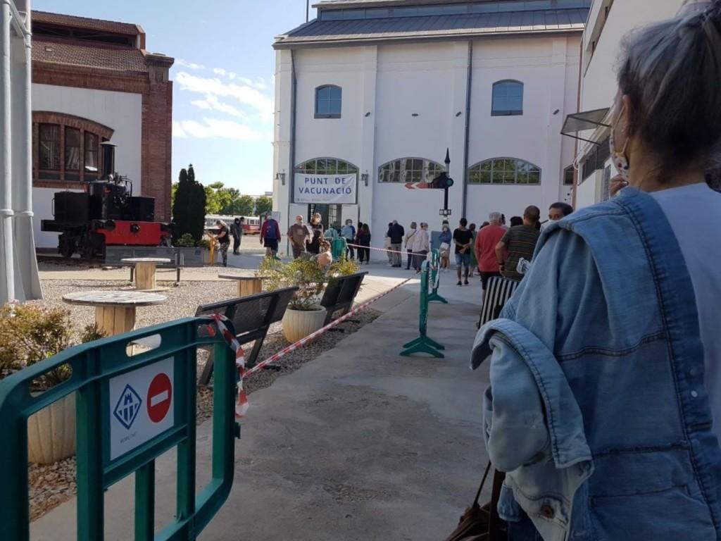 vacunas COVID, Museo Ferrocarril, junio 2021 Vilanova i la Geltrú