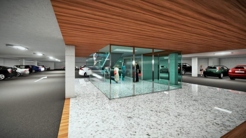 Centro comercial Nova Center, en VILANOVA I LA GELTRÚ. Aparcamiento.