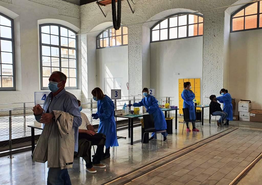 Vacunas COVID Vilanova i la Geltrú, Museo del Ferrocarril