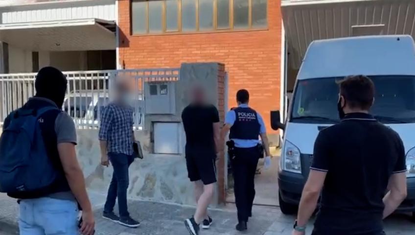 Tráfico de drogas, detenciones en Vilanova i la Geltrú, julio de 2021, ligadas a la confiscación en Newry