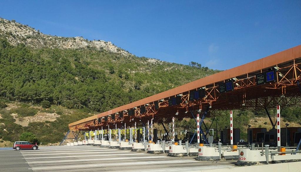 Autopista Túneles del Garraf, peaje Vallcarca